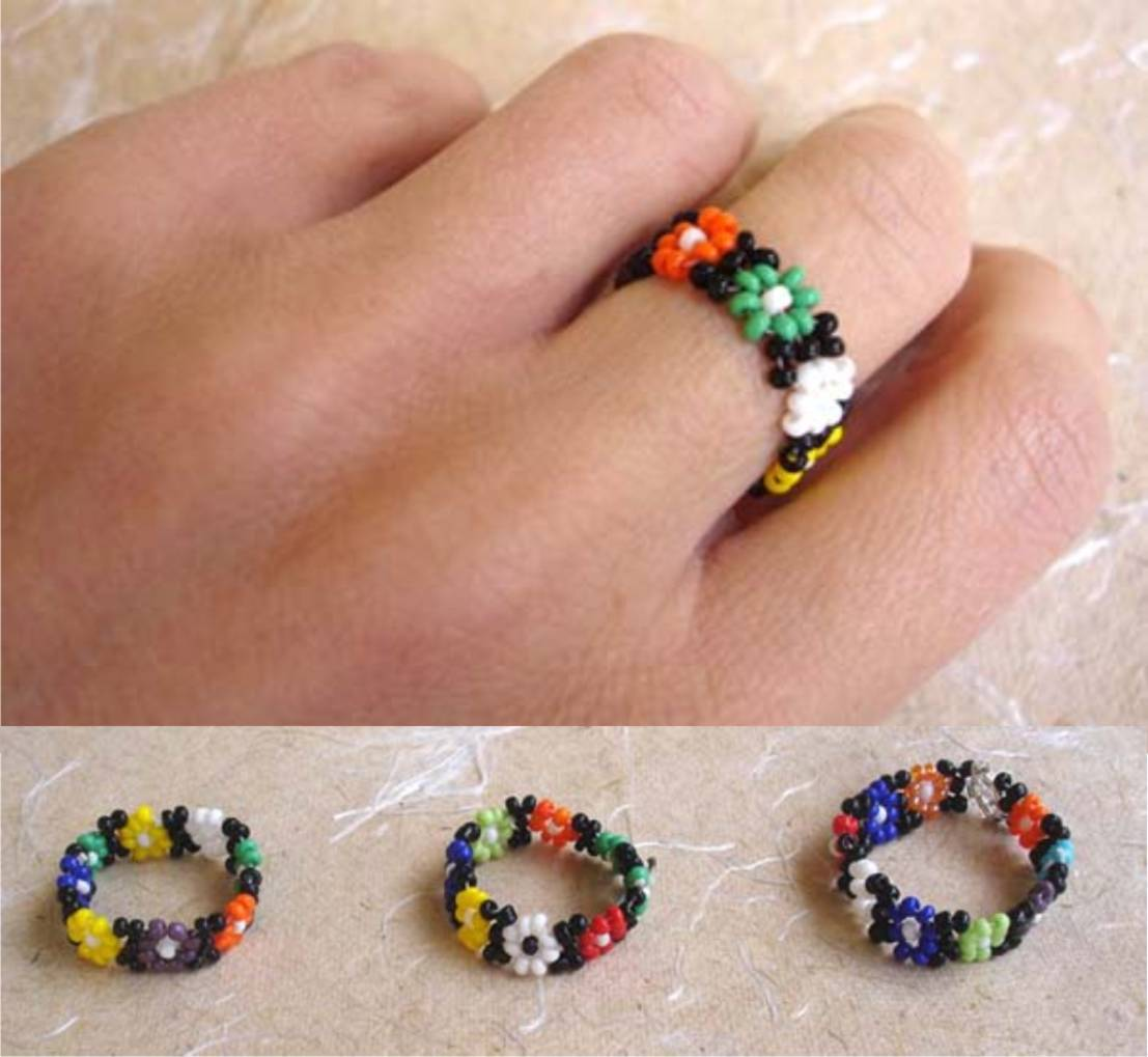 jewelry and beaded fullxfull beads simple bead crystals il pattern rings listing making patterns crystal flower tutorial seed ring